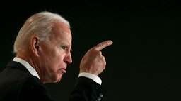 WASHINGTON, DC - MARCH 12: Former U.S. Vice president Joe Biden speaks at the International Association of Fire Fighters legislative conference March 12, 2019 in Washington, DC. The conference addresses issues including firefighter mental health, funding the 9/11 Victims Compensation Fund and collective bargaining.
