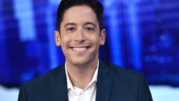 "NEW YORK, NEW YORK - SEPTEMBER 17: (EXCLUSIVE COVERAGE) Michael Knowles visits ""The Story with Martha MacCallum"" in the Fox News Channel Studios on September 17, 2019 in New York City."