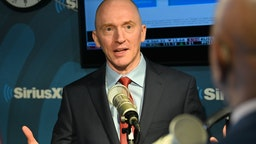 "Carter Page, Former Foreign-Policy adviser to Donald Trump during his 2016 Presidential Election Campaign visits ""The David Webb Show"" On SiriusXM Patriot Channel 125 at SiriusXM Studios on January 14, 2020 in New York City."