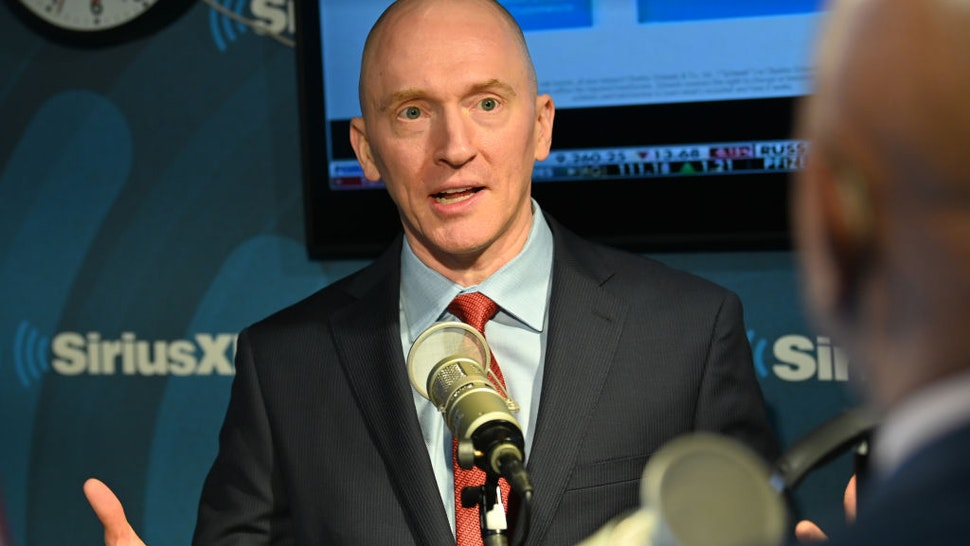 """Carter Page, Former Foreign-Policy adviser to Donald Trump during his 2016 Presidential Election Campaign visits """"The David Webb Show"""" On SiriusXM Patriot Channel 125 at SiriusXM Studios on January 14, 2020 in New York City."""