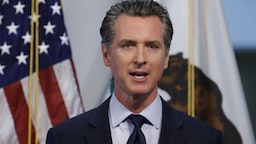 Gavin Newsom, governor of California, speaks during a news conference in Sacramento, California, U.S., on Tuesday, April 14, 2020.