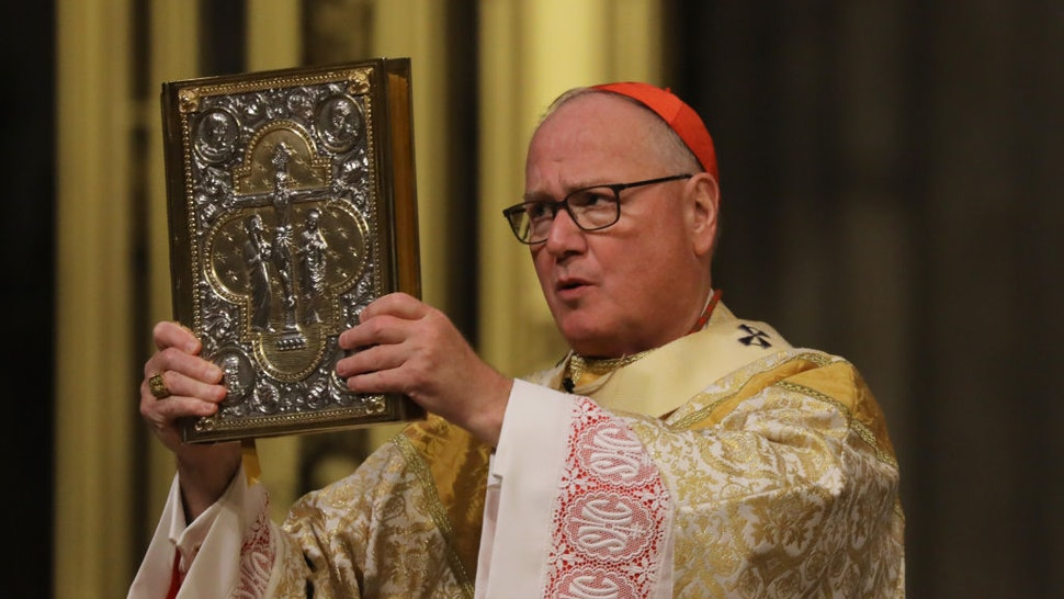 NYC Archbishop Timothy Dolan Celebrates Easter Mass Inside Empty Cathedral