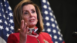 U.S. House Speaker Nancy Pelosi, a Democrat from California, speaks during a news conference at the Democratic Congressional Campaign Committee headquarters in Washington, D.C., U.S., on Tuesday, Nov. 3, 2020.