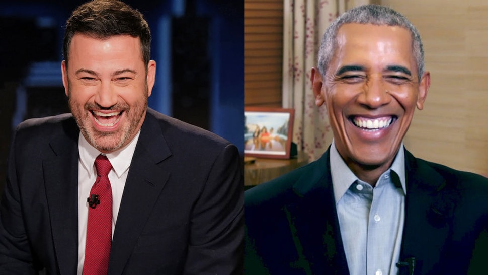 """""""Jimmy Kimmel Live!"""" airs every weeknight at 11:35 p.m. EST and features a diverse lineup of guests that include celebrities, athletes, musical acts, comedians and human interest subjects, along with comedy bits and a house band. The guests for Thursday, November 19, included President Barack Obama"""