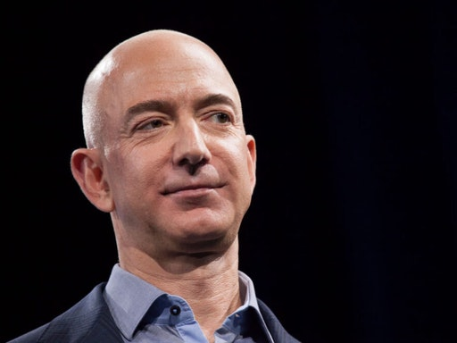 SEATTLE, WA - JUNE 18: Amazon.com founder and CEO Jeff Bezos presents the company's first smartphone, the Fire Phone, on June 18, 2014 in Seattle, Washington. The much-anticipated device is available for pre-order today and is available exclusively with AT&T service.