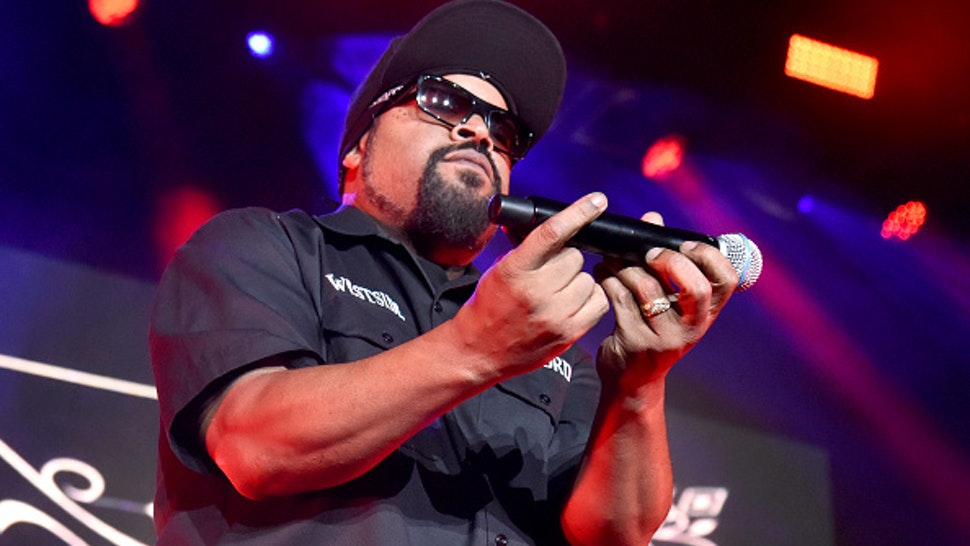 """WHEATLAND, CALIFORNIA - OCTOBER 12: Ice Cube performs during the """"How the West was Won"""" tour at Toyota Amphitheatre on October 12, 2019 in Wheatland, California."""