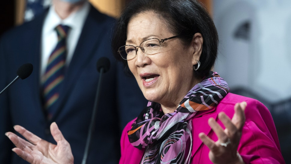 UNITED STATES - SEPTEMBER 30: Sen. Mazie Hirono, D-Hawaii, conducts a news conference with Senate Democrats where they addressed topics including the Supreme Court nominee and health care in the Capitol on Wednesday, September 30, 2020.