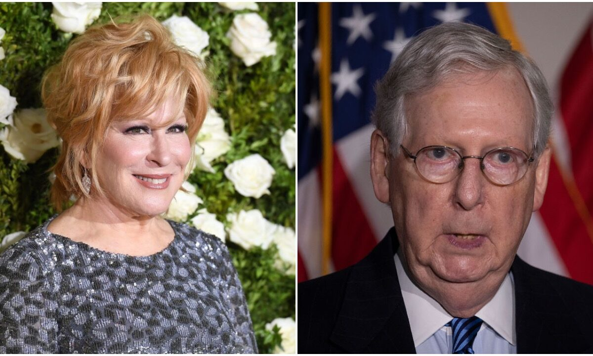 Midler: McConnell Will Leave 'Us' Treading Water While Rich Sail Yachts. She's Worth $250 Million.