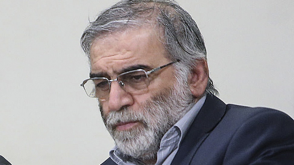 """TEHRAN, IRAN - ARCHIVE: (----EDITORIAL USE ONLY - MANDATORY CREDIT - """"Iranian Leader Press Office / HANDOUT"""" - NO MARKETING NO ADVERTISING CAMPAIGNS - DISTRIBUTED AS A SERVICE TO CLIENTS----) A file photo dated 23 January 2019 shows Iran's top nuclear scientist Mohsen Fakhrizadeh during a meeting. A leading Iranian nuclear scientist, Mohsen Fakhrizadeh, has been assassinated by unidentified gunmen on the outskirts of the capital Tehran on Friday, the countrys foreign minister said."""