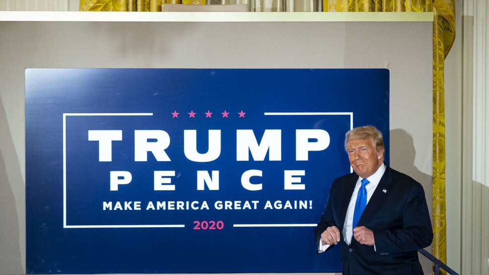 U.S. President Donald Trump arrives an election night party in the East Room of the White House in Washington, D.C., U.S., on Wednesday, Nov. 4, 2020. Trumpfalsely declared early Wednesday he had won re-election againstJoe Bidenand said he would ask the Supreme Court to intervene, even as several battleground states continue to count votes. Photographer: Al Drago/Bloomberg via Getty Images