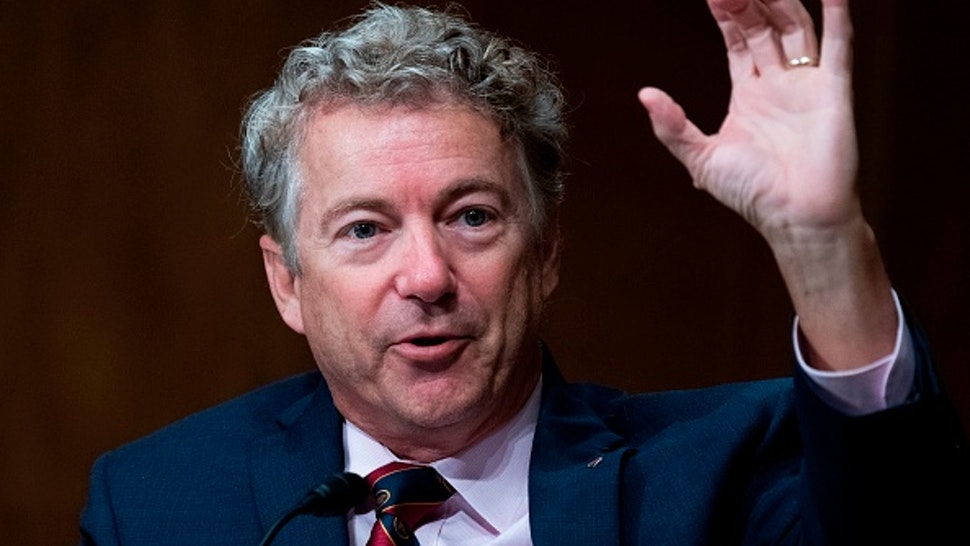 """Sen. Rand Paul, R-Ky., speaks during a Senate Homeland Security and Governmental Affairs Committee hearing on """"Threats to the Homeland"""" on Capitol Hill in Washington, DC, on September 24, 2020."""