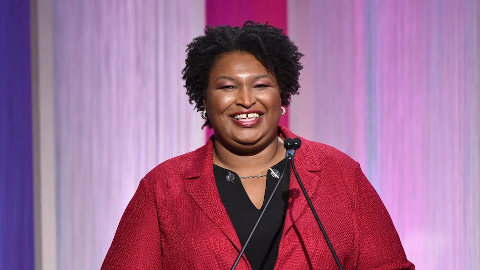 HOLLYWOOD, CALIFORNIA - DECEMBER 11: Politician Stacey Abrams speaks onstage during The Hollywood Reporter's Power 100 Women in Entertainment at Milk Studios on December 11, 2019 in Hollywood, California.