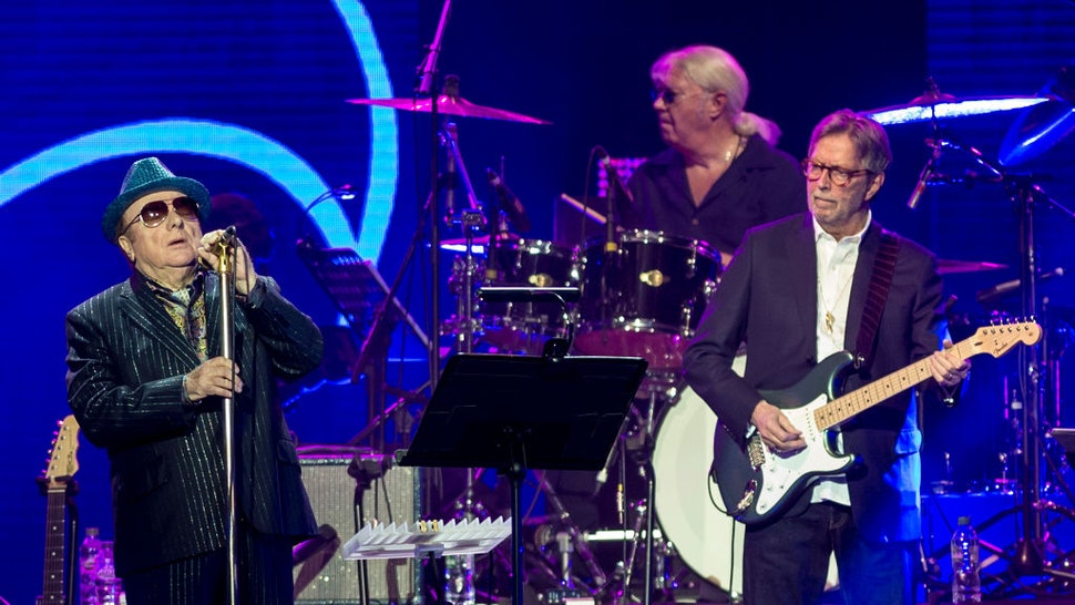 Van Morrison and Eric Clapton perform at the Music For Marsden 2020 at The O2 Arena on March 3, 2020 in London, England. (Photo by Neil Lupin/Redferns)