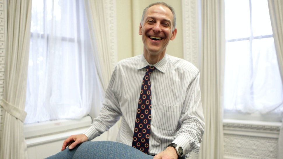 Dr. Zeke Emanuel, older brother of Rahm and now working in the administration on health care reform, is interviewed in an office in the Old Eisenhower Office Building in Washington, D.C., March 16, 2009.