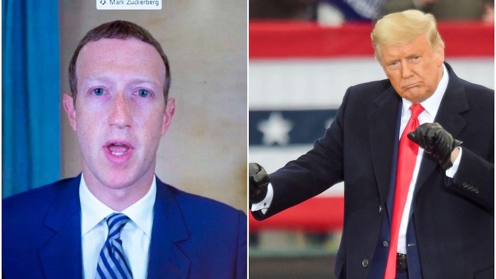 Zuckerberg and Trump