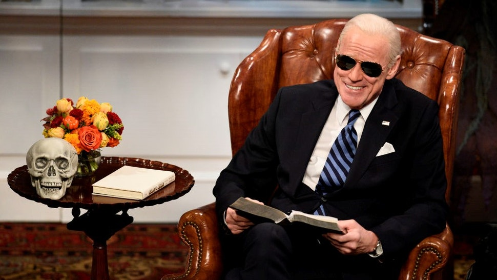 """SATURDAY NIGHT LIVE -- """"John Mulaney"""" Episode 1790 -- Pictured: Jim Carrey as Joe Biden during the """"Biden Halloween"""" Cold Open on Saturday, October 31, 2020 -- (Photo by:"""