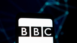 POLAND - 2020/03/23: In this photo illustration a BBC logo seen displayed on a smartphone.