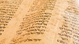 Hebrew Pentateuch (from 900-1188) written in typical Hebrew oriental book hand.