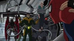 """MARVEL'S ULTIMATE SPIDER-MAN VS. THE SINISTER 6 - """"Graduation Day - Part 1"""" - Doctor Octopus (Doc Ock) threatens to harm Aunt May if Spidey ever puts on his mask again. Spider-Man must track down Doc Ock before he has a chance to put his plan into action. This episode of """"Marvel's Ultimate Spider-Man VS. The Sinister 6"""" airs Saturday, January 07 (7:30 - 8:00 P.M. EST) on Disney XD. (Marvel via Getty Images) VULTURE, DOC OCK, AUNT MAY, RHINO, SPIDER-MAN"""
