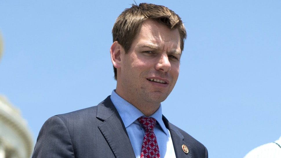 UNITED STATES - MAY 22: Rep. Eric Swalwell, D-Calif., walks down the House steps following a vote on Thursday, may 22, 2014.
