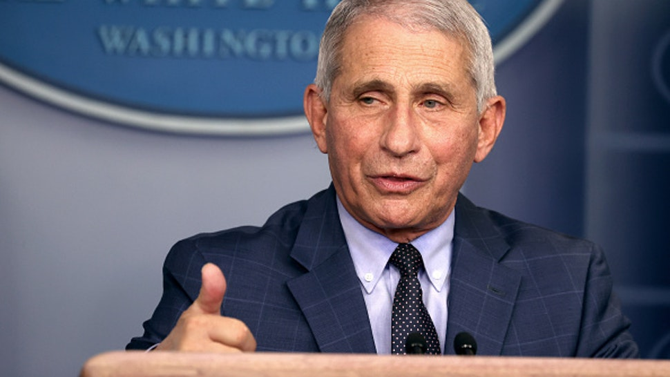 WASHINGTON, DC - NOVEMBER 19: Dr. Anthony Fauci, Director of the National Institute of Allergy and Infectious Diseases, speaks during a White House Coronavirus Task Force press briefing in the James Brady Press Briefing Room at the White House on November 19, 2020 in Washington, DC. The White House held its first Coronavirus Task Force briefing in months as cases of COVID-19 are surging across the country ahead of the Thanksgiving holiday.