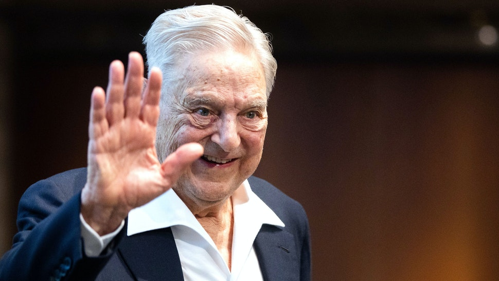 Hungarian-born US investor and philanthropist George Soros talks to the audience after receiving the Schumpeter Award 2019 in Vienna, Austria on June 21, 2019.