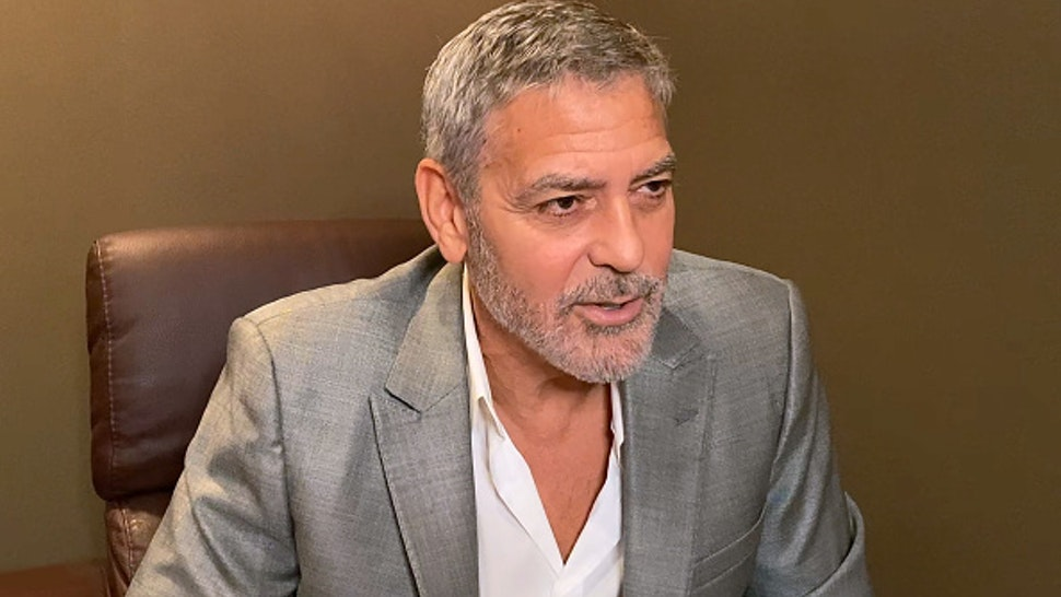 UNSPECIFIED - OCTOBER 18: In this screengrab, George Clooney speaks virtually during Screen Talk at the 64th BFI London Film Festival on October 18, 2020.