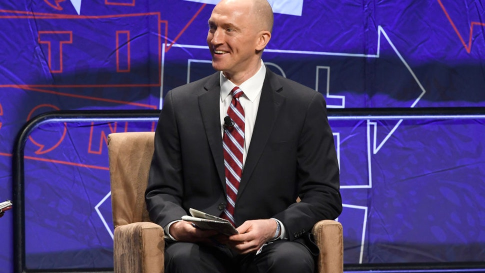 Carter Page speaks onstage at Politicon 2018 at Los Angeles Convention Center on October 20, 2018 in Los Angeles, California.