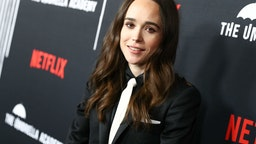 "HOLLYWOOD, CALIFORNIA - FEBRUARY 12: Ellen Page attends the premiere of Netflix's ""The Umbrella Academy"" at ArcLight Hollywood on February 12, 2019 in Hollywood, California. (Photo by Rich Fury/Getty Images)"