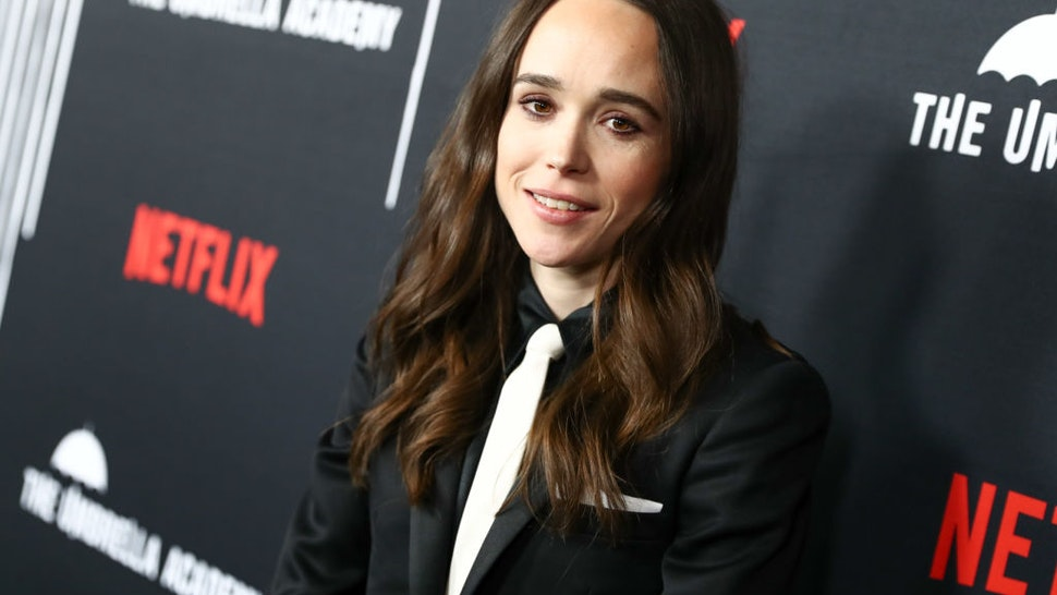 """HOLLYWOOD, CALIFORNIA - FEBRUARY 12: Ellen Page attends the premiere of Netflix's """"The Umbrella Academy"""" at ArcLight Hollywood on February 12, 2019 in Hollywood, California. (Photo by Rich Fury/Getty Images)"""