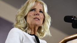 Jill Biden, wife of former US vice president Joe Biden, speaks during her husband's first campaign event as a candidate for US President at Teamsters Local 249 in Pittsburgh, Pennsylvania, April 29, 2019.
