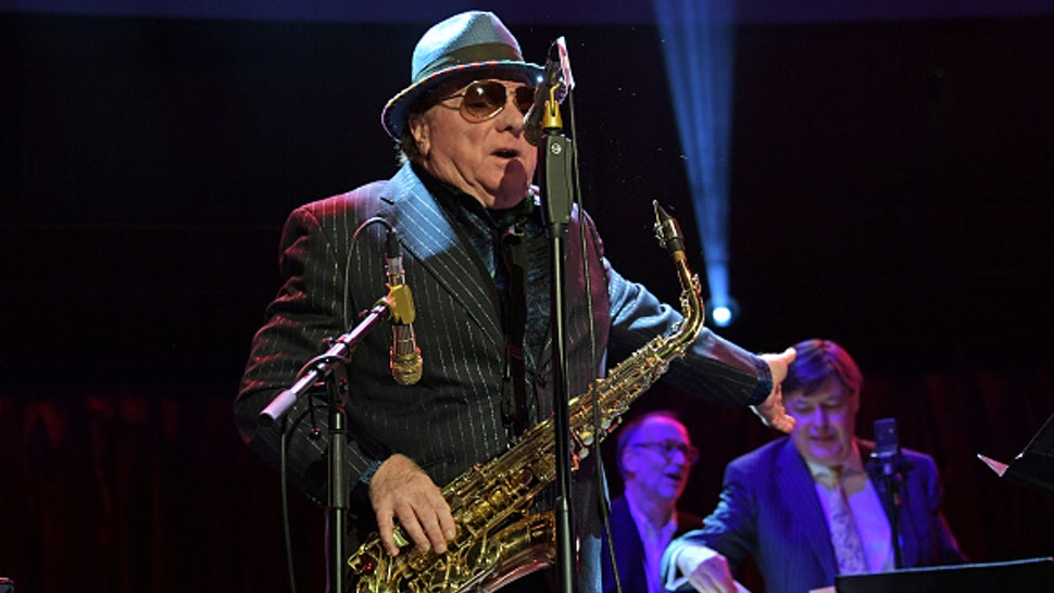 """LONDON, ENGLAND - OCTOBER 30: Van Morrison performs at """"A Night At Ronnie Scotts: 60th Anniversary Gala"""" at the Royal Albert Hall on October 30, 2019 in London, England."""