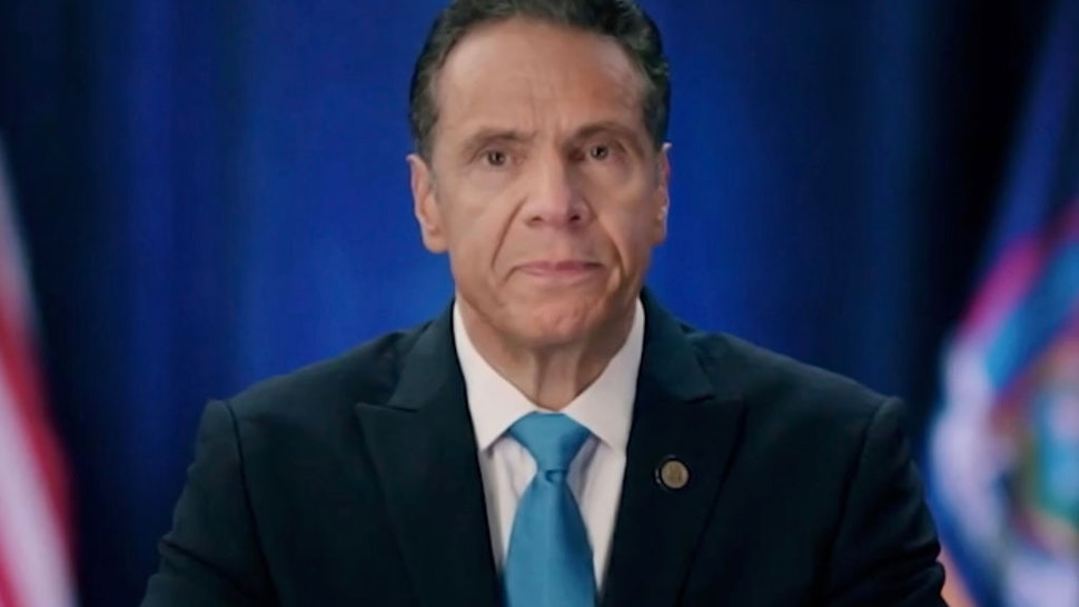 In this screenshot from the DNCC's livestream of the 2020 Democratic National Convention, New York Gov. Andrew Cuomo addresses the virtual convention on August 17, 2020.