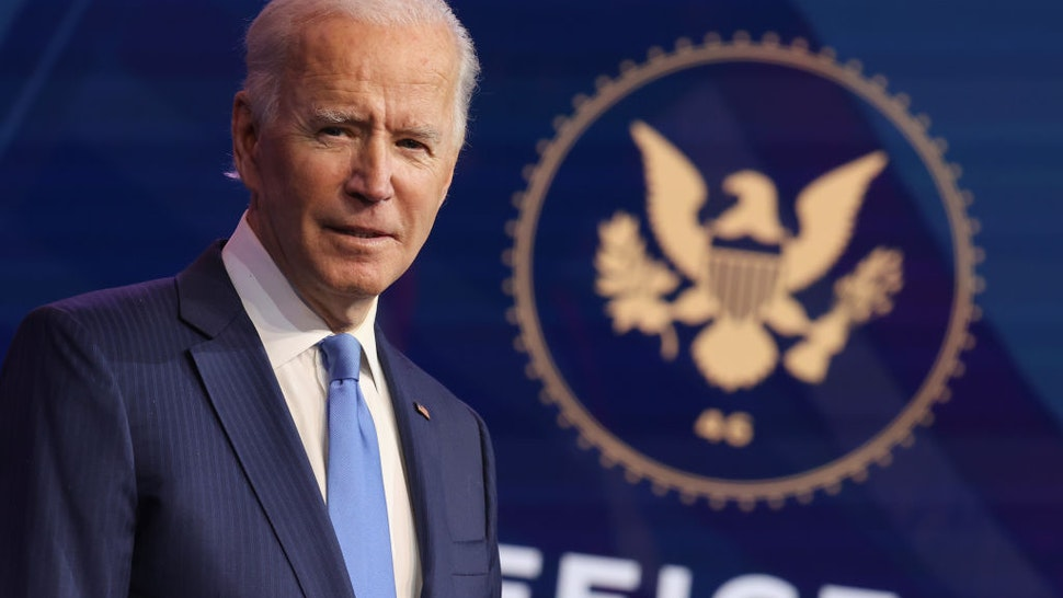 U.S. President-elect Joe Biden speaks during an event to announce new cabinet nominations at the Queen Theatre on December 11, 2020 in Wilmington, Delaware.