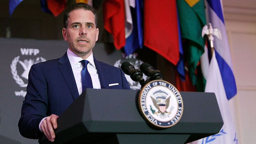 World Food Program USA Board Chairman Hunter Biden speaks at the World Food Program USA's Annual McGovern-Dole Leadership Award Ceremony at Organization of American States on April 12, 2016 in Washington, DC.