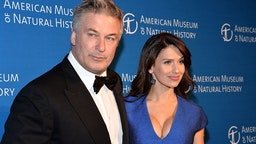 Alec Baldwin (L) and wife Hilaria Baldwin attend the 2016 American Museum of Natural History Museum Gala at the American Museum of Natural History on November 17, 2016 in New York City