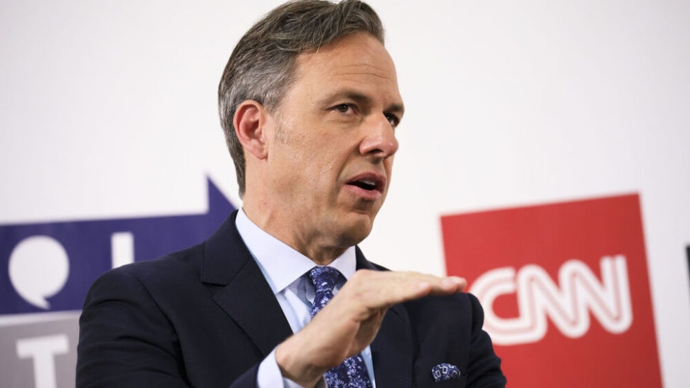 Jake Tapper, chief Washington correspondent for CNN, speaks with comedian Chelsea Handler, not pictured, during the Politicon convention inside the Pasadena Convention Center in Pasadena, California, U.S., on Saturday, July 29, 2017. During the third annual Politicon pundits, politicians, comedians and entertainers gather to discuss issues that touch all sides of the political spectrum.