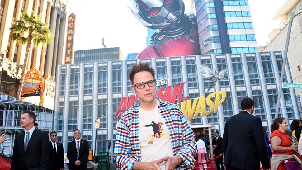 """HOLLYWOOD, CA - JUNE 25: James Gunn attends the Los Angeles Global Premiere for Marvel Studios' """"Ant-Man And The Wasp"""" at the El Capitan Theatre on June 25, 2018 in Hollywood, California."""