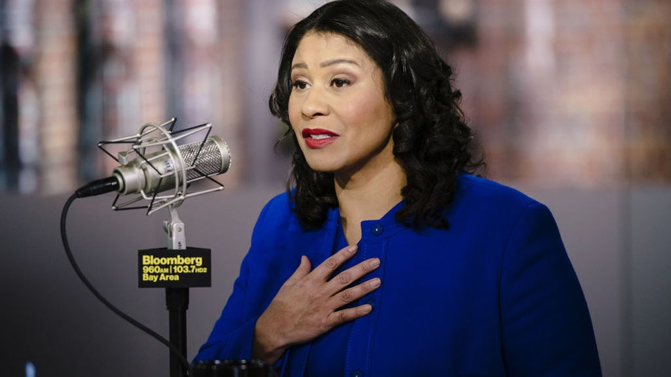 London Breed, mayor of San Francisco, speaks during a Bloomberg radio interview in San Francisco, California, U.S., on Tuesday, Feb. 5, 2020. Mike Bloomberg, the former mayor of New York, has earned the support of eight big-city mayors, including Breed. Photographer: Michael Short/Bloomberg
