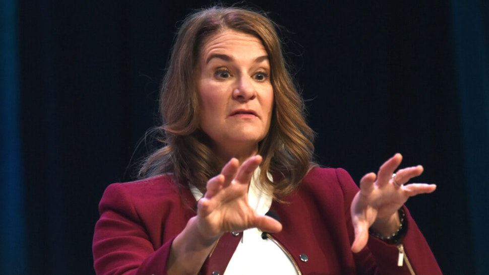 AUSTIN, TX - MARCH 11: Melinda Gates speaks onstage at the Interactive Keynote during SXSW at Austin Convention Center on March 11, 2018 in Austin, Texas.