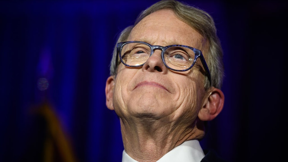 COLUMBUS, OH - NOVEMBER 06: Republican Gubernatorial-elect Ohio Attorney General Mike DeWine gives his victory speech after winning the Ohio gubernatorial race at the Ohio Republican Party's election night party at the Sheraton Capitol Square on November 6, 2018 in Columbus, Ohio. DeWine defeated Democratic Gubernatorial Candidate Richard Cordray to win the Ohio governorship. (Photo by Justin Merriman/Getty Images)