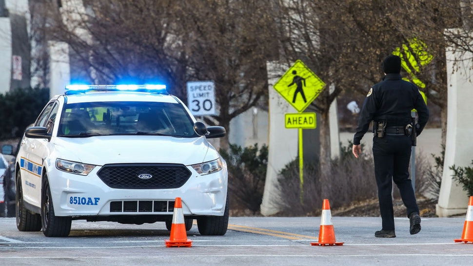 NASHVILLE, TENNESSEE - DECEMBER 25: Police close off an area damaged by an explosion on Christmas morning on December 25, 2020 in Nashville, Tennessee. A Hazardous Devices Unit was en route to check on a recreational vehicle which then exploded, extensively damaging some nearby buildings. According to reports, the police believe the explosion to be intentional, with at least 3 injured and human remains found in the vicinity of the explosion.