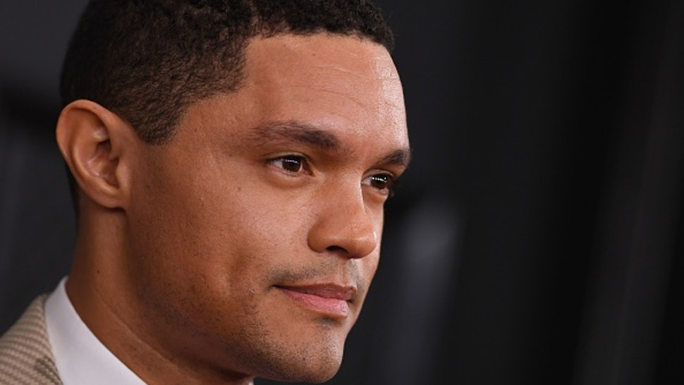 South African comedian Trevor Noah arrives for the 62nd Annual Grammy Awards on January 26, 2020, in Los Angeles.