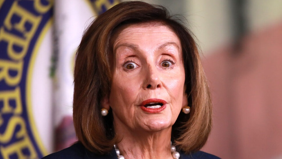 WASHINGTON, USA - JANUARY 16: U.S. Speaker of the House, Nancy Pelosi speaks during her weekly news conference on Capitol Hill, on January 16, 2020 in Washington, DC, United States. Yesterday Pelosi named seven impeachment managers to prosecute the Senate impeachment trial against U.S. President Donald Trump.