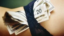 Woman with Twenty Dollar Bills in Her Panties