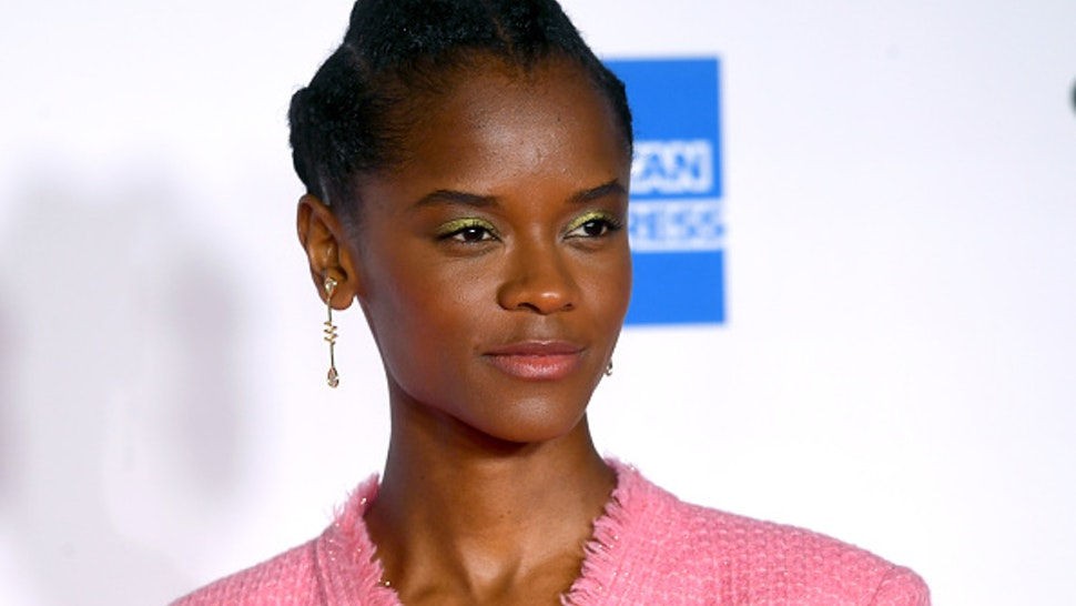 """LONDON, ENGLAND - OCTOBER 07: Letitia Wright attends the """"Mangrove"""" opening film and European Premiere during the 64th BFI London Film Festival at BFI Stephen Street on October 07, 2020 in London, England."""
