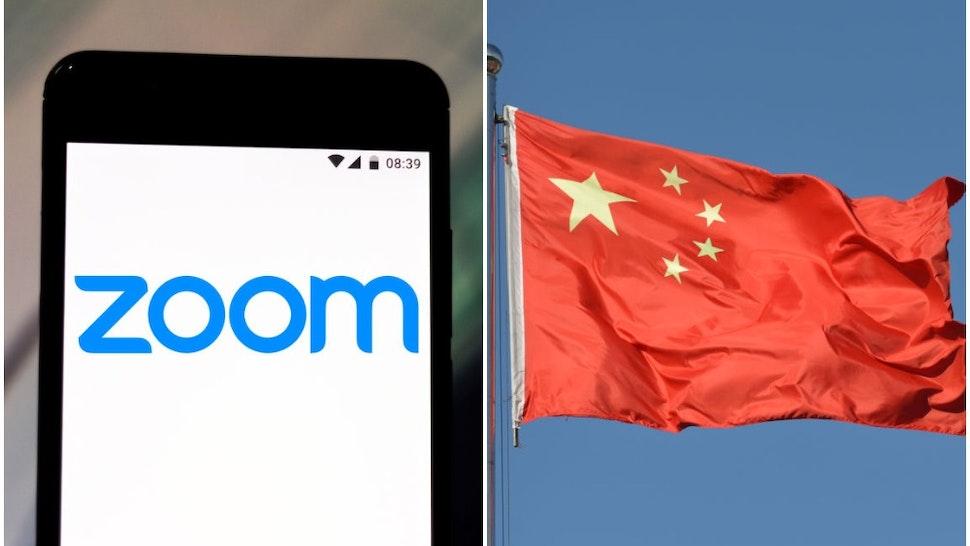 Zoom (Rafael Henrique/SOPA Images/LightRocket via Getty Images) Chinese National Flag (Artur Widak/NurPhoto via Getty Images)