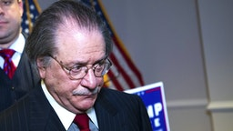 UNITED STATES - NOVEMBER 19: Joseph diGenova, attorney for President Donald Trump, concludes a news conference at the Republican National Committee on lawsuits regarding the outcome of the 2020 presidential election on Thursday, November 19, 2020. Trump attorneys Rudolph Giuliani, Sydney Powell, and Jenna Ellis, also attended.
