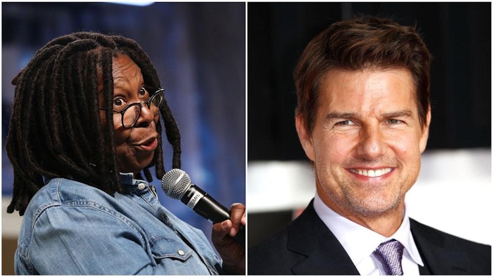 Whoopi Goldberg and Tom Cruise
