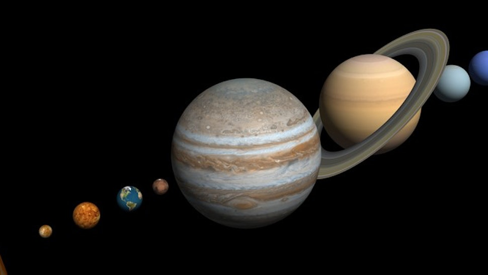 3d render. Solar system isolated on black background.